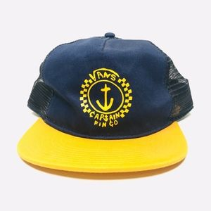 Vans Captain Fin Blue Yellow Trucker Hat A180831